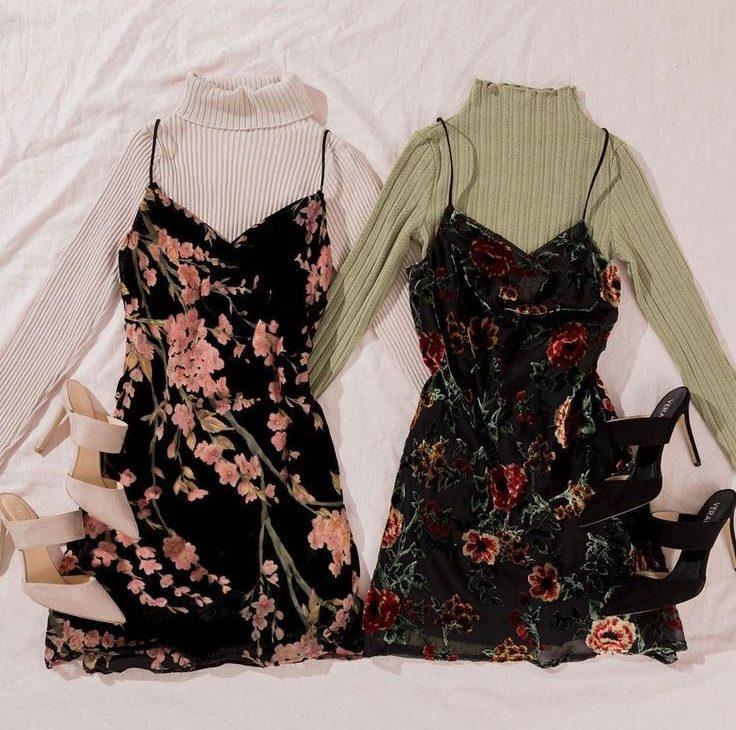 flat lay of layered dress