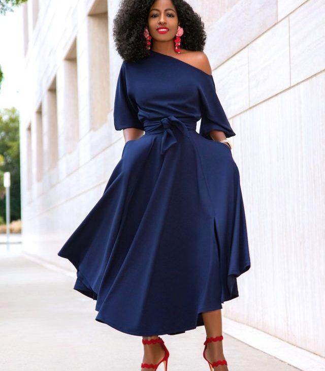 Woman wearing classy dress.